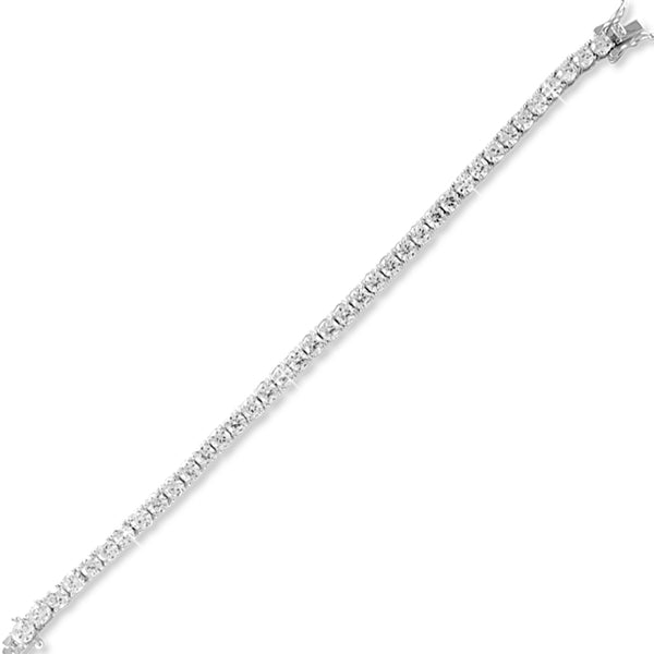 Taraash 925 Sterling Silver Large CZ Solitaire Bracelet for Women