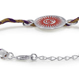 Taraash Sterling Silver Divine Om thread Rakhi For Brother BRR0594S