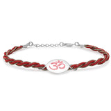 "Taraash Sterling Silver Multicolor "" OM "" Impression Rakhi For Brother  BRR0603S"