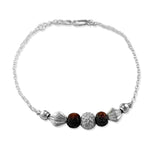 Taraash 925 Beaded Silver Rakhi Bracelet For Brother