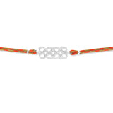 Taraash 925 Silver Geomatric Thread Rakhi For Men