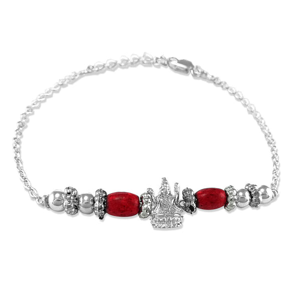 Taraash 925 Lakshmi Silver Bracelet Rakhi For Brother