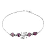 Taraash 925 Swastik Silver Bracelet Rakhi For Brother