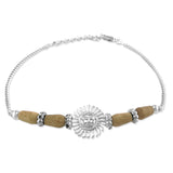 Taraash 925 Sterling Silver Sun Design Bracelet Rakhi For Men BRR0652S