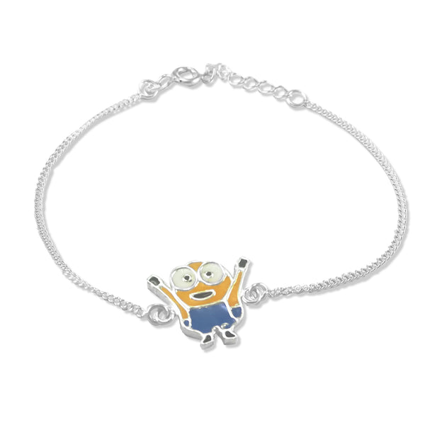 Taraash 925 Silver Minion Bracelet Rakhi For Kids