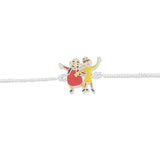 Taraash 925 Silver Motu Patlu Bracelet Rakhi For Kids