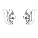 Taraash 925 Sterling Silver Abstruct Design Earrings For Kids CBER134I-005
