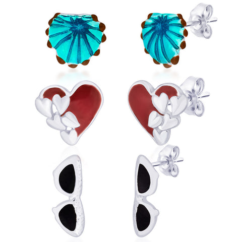 Silver Earrings for Kids