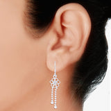 Taraash 925 Sterling Silver Floral Design French Hook Jhumki Earrings for women CBER244I-07