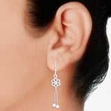 Taraash 925 Sterling Silver Floral Design French Hook Jhumki Earrings for women CBER244I-08