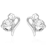 Taraash 925 Sterling Silver CZ Abstract Design Stud Earrings for women CBER267I-02