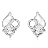 Taraash 925 sterling silver solataire Stud Earrings for girls CBER267I-12