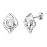 Taraash 925 sterling silver CZ captivating design earrings for women CBER267I-16