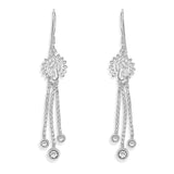 Taraash Sterling Silver Peacock Design French Hook Jhumki Earrings For Women CBER303I-08