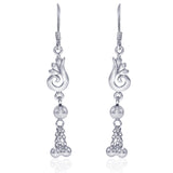 Taraash Sterling Silver Swarl Design French Hook Jhumki For Women CBER320I-03