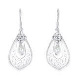 Taraash 925 Sterling Silver Cutwork Abstruct Shape Earrings For Women CBER330I-05