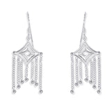 Taraash 925 Sterling Silver Cutwork Abstruct Shape Earrings For Women CBER330I-09