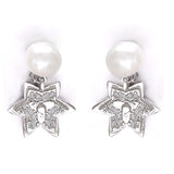 Taraash 925 Sterling Silver Star Design Drop Party Wear Earrings For Women and Girls CBER336I-01