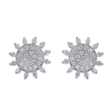 Taraash Sterling Silver White Cz Mesmerize Design Stud Earrings For Women CBER340I-04