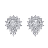 Taraash Sterling Silver Charming White CZ Earrings For Women CBER340I-05