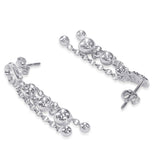 Taraash 925 Sterling Silver Leaf Style Drop Earrings For Women CBER374I-06