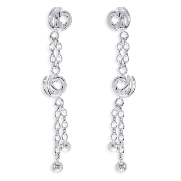 Taraash 925 Sterling Silver Peacock Design Drop Earrings For Women CBER375I-09