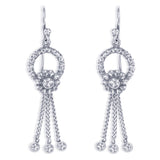 Taraash 925 Sterling Silver Antique Floral Design Earrings For Women CBER376I-02
