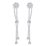 Taraash 925 Sterling Silver Floral Design Drop Earrings For Women CBER381I-04