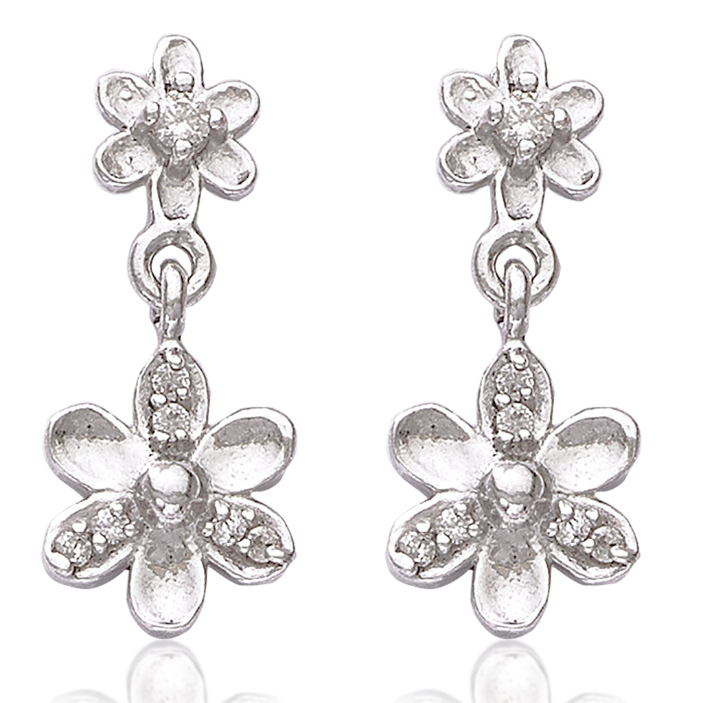 ee49c605a Taraash 925 Sterling Silver Floral Shape Hanging Earrings For College