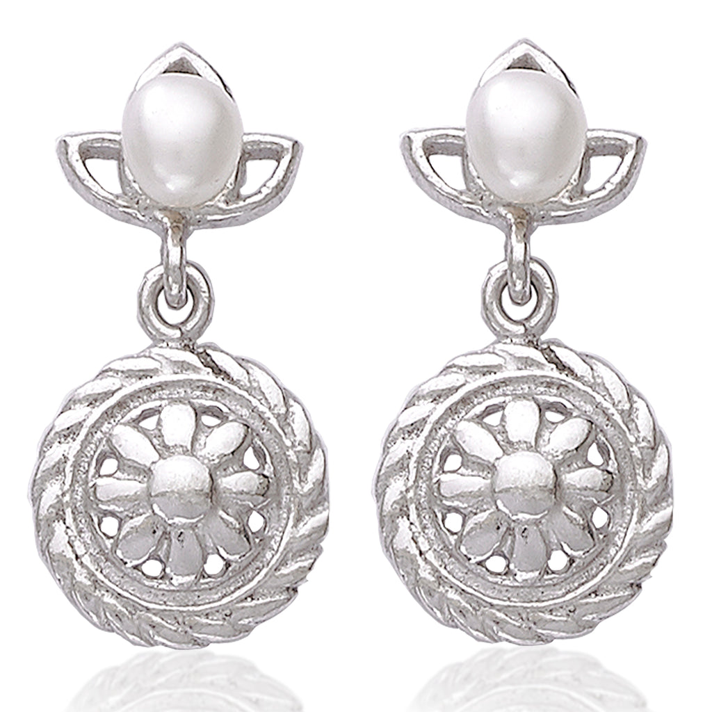 0030aa533 Taraash 925 Sterling Silver Pearl Collection Drop Earrings For Women A