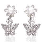 Taraash 925 Sterling Silver Butterfly Drop Earrings For Women/College Girls CBER387I-11