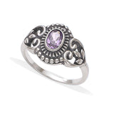 Taraash 925 Silver Purple Cz Finger Rings For Women