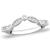 Taraash Sterling Silver CZ Delightful Band Finger Ring For Women CBFRBX61I-16