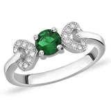 Taraash Sterling Silver glorious white and green CZ finger ring for women CBFRBX68I-07