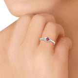 Taraash Sterling Delightful Pink Cz Promise Finger Ring For Women CBFRBX68I-19