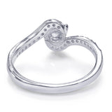 Taraash Sterling Silver Glorious CZ Studded Finger Ring For Women / Girls CBFRBX84I-03