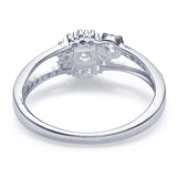 Taraash Sterling Silver Charming CZ Adorn Finger Ring For Women / Girls CBFRBX84I-08