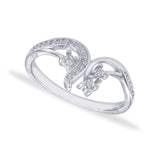 Taraash 925 Sterling Silver Abstruct Design Finger Ring For Women CBFRBX86I-11