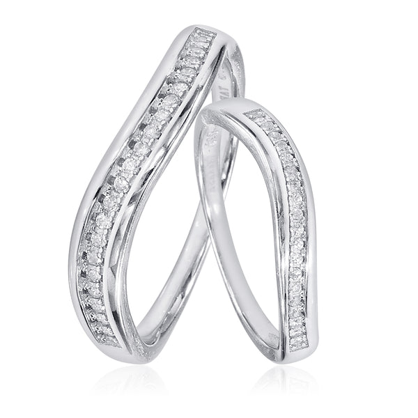 Taraash Sterling Silver Delightful CZ Couple Ring For Couples CBFRBX_90I-09