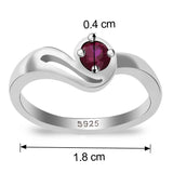 Taraash 925 Sterling Silver CZ Abstract Design finger ring for girls CBFRBX_02LI-04