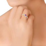 Taraash 925 Sterling Silver Marquise cz finger ring for girls CBFRBX_02LI-10