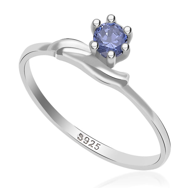 Taraash 925 sterling silver cz round design finger ring for her CBFRBX_02LI-32