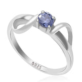 Taraash 925 sterling silver cz round design finger ring for her CBFRBX_02LI-33