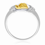 Taraash 925 Sterling Silver CZ With Gold Plated Shivji Finger Ring CBFRBX_19I-10