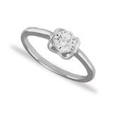 Taraash Sterling Silver Bewitching CZ Finger Ring For Women