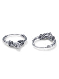 Taraash 925 Sterling Silver Combo of Designer Hoop Earrings For Women CBHP039I-01 B