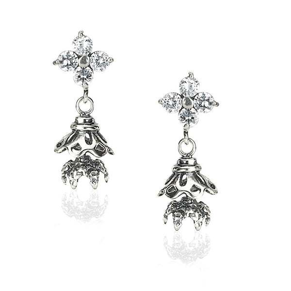 Taraash CZ Chandelier Design 925 Sterling Silver Jhumki Earring For Women CBJH011I-10