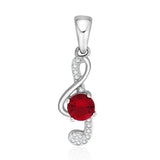 Taraash Sterling silvet S shape design CZ Pendant for women CBPD053I-09