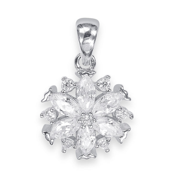 Taraash Sterling Silver Pretty Marquise Cut CZ Pendant For Women CBPD060I-03