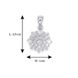 Taraash Sterling Silver Adorable Baguette Cut CZ Pendant For Women CBPD060I-05